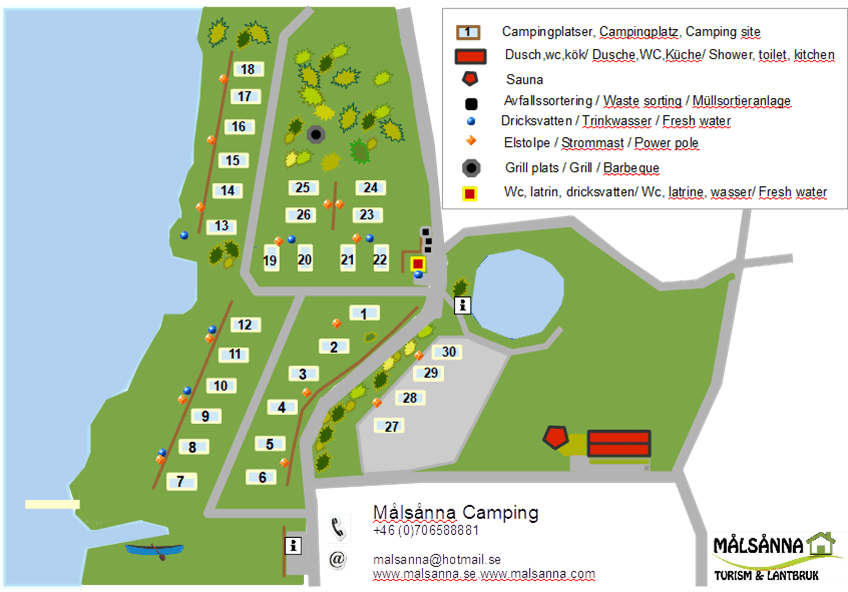 Situationsplan Målsånna camping