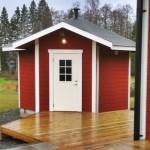 Bilder på bygget av Målsånna camping servicehus