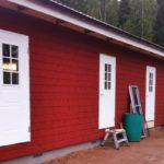 Målsånna camping servicehus dörrar