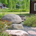 trädgård vid huset rättviken
